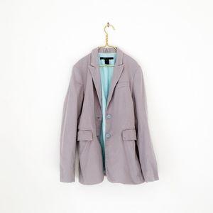 MARC JACOBS pinstripe boyfriend jacket women 10